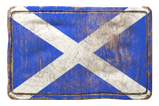 Old Scotland Flag Stock Photo - Download Image Now