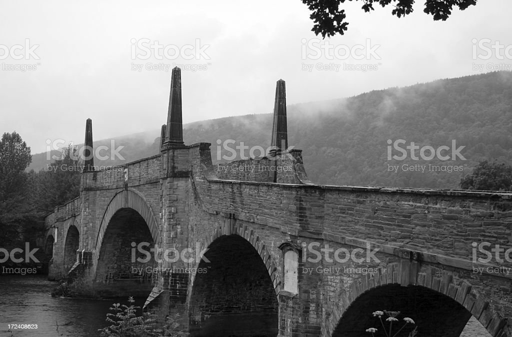 Old Scottish Bridge stock photo