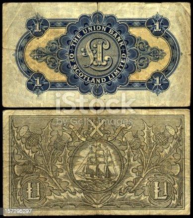 istock old scottish notes 157295297