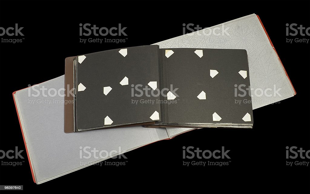 old scrapbooks royalty-free stock photo
