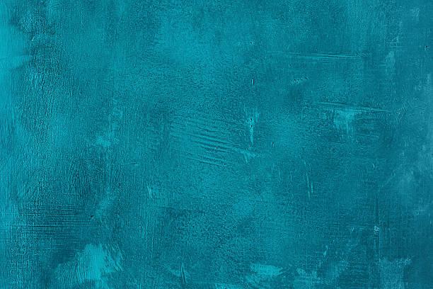 Alte zerkratzt und rissige blauen Wand ein Türkis – Foto