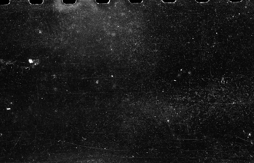 Old Scratched Film Strip Grunge Texture Background