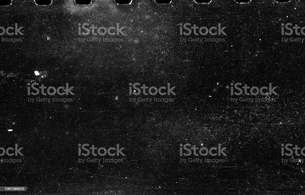 Old Scratched Film Strip Grunge Texture Background stock photo