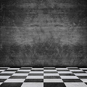 istock old scratched wall chequered pattern floor 536868508