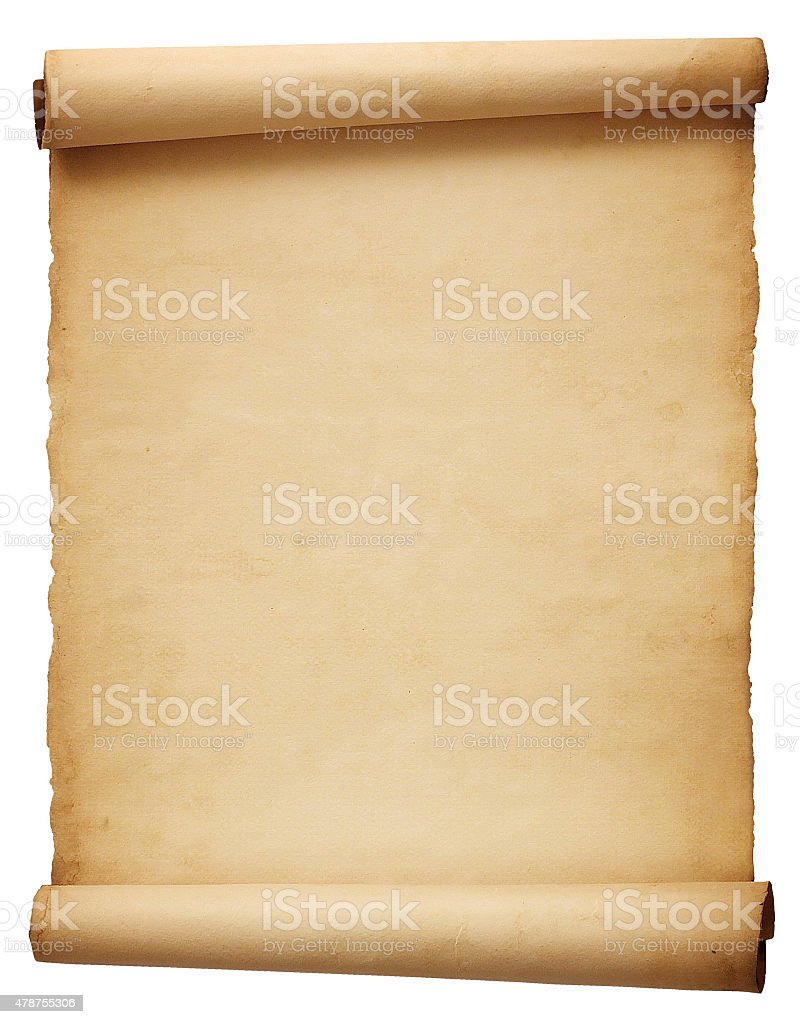 Old scroll paper stock photo