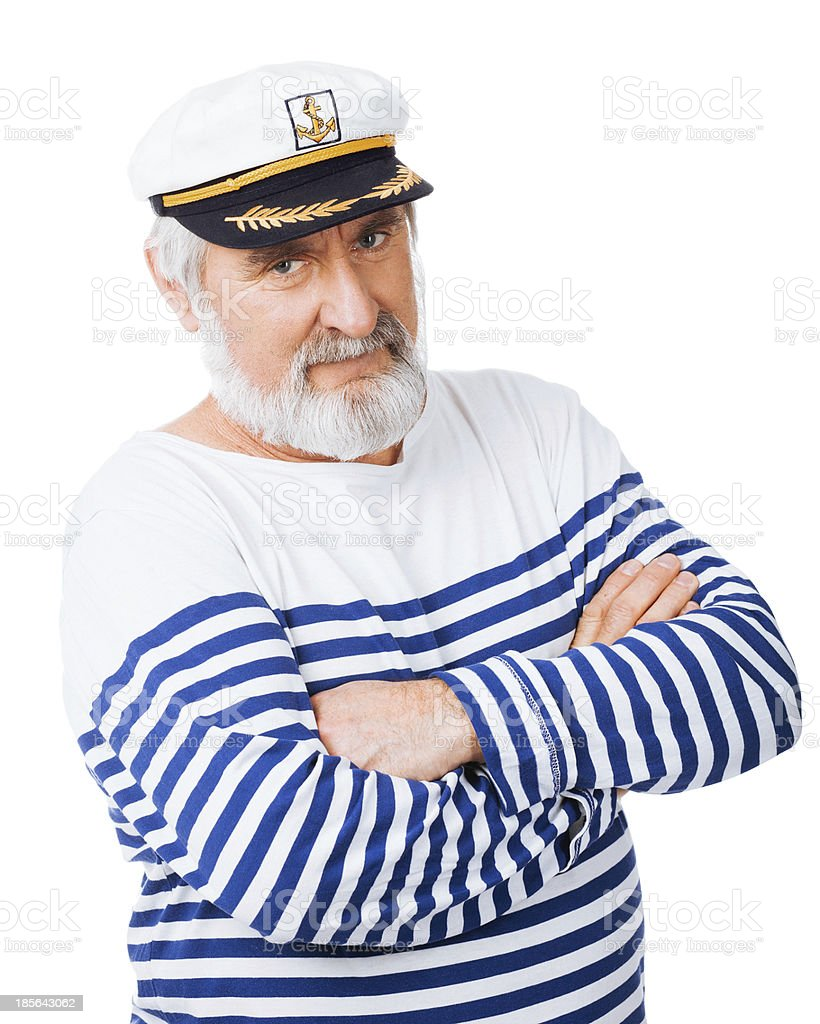 Old seaman stock photo