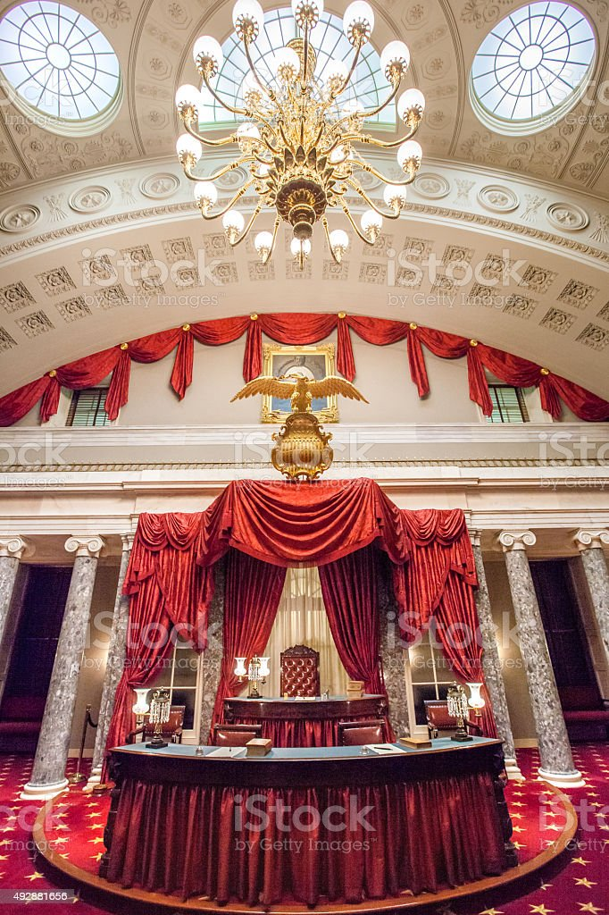 Old Senate Chamber In The Us Capitol Stock Photo ...