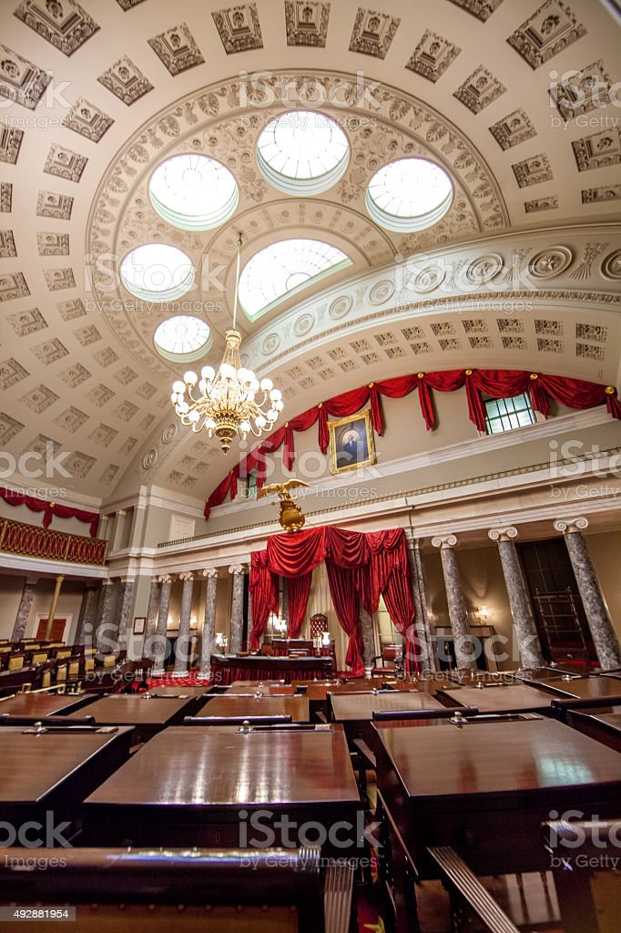 Old Senate Chamber in the U.S. Capitol stock photo