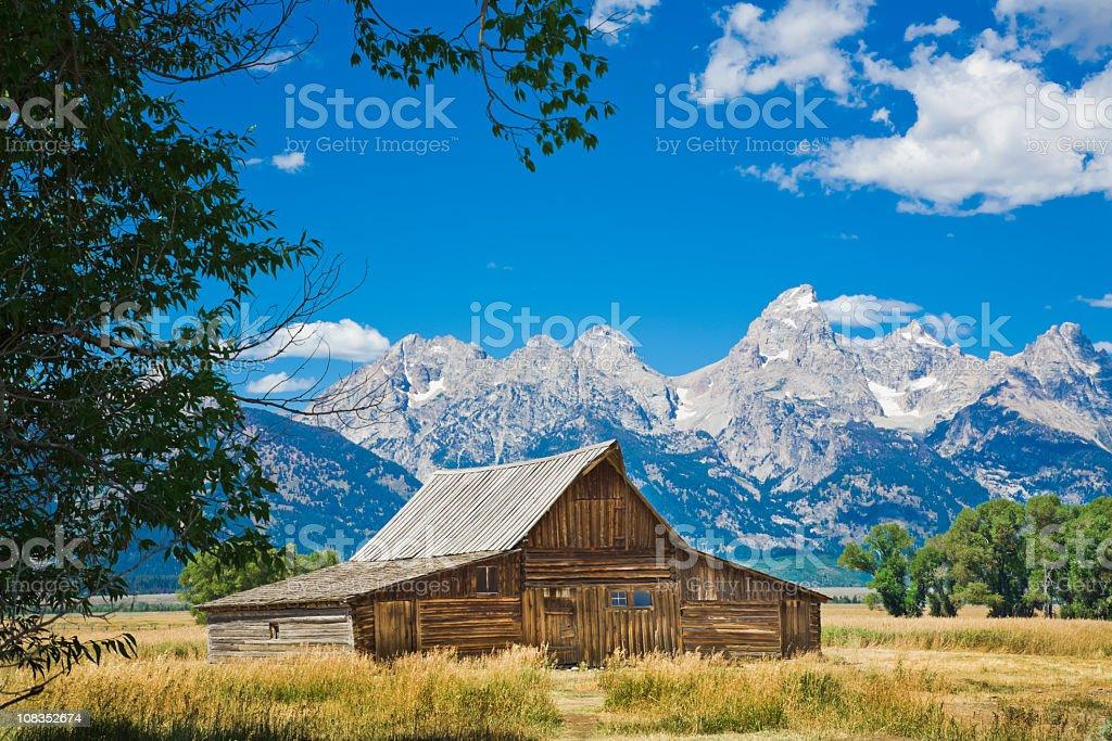 old settler's barn, Tetons, from Antelope Flats royalty-free stock photo