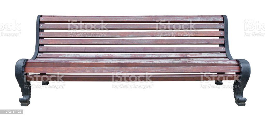 Astonishing Old Shabby Brown Wooden Bench With Black Metal Curved Legs Machost Co Dining Chair Design Ideas Machostcouk