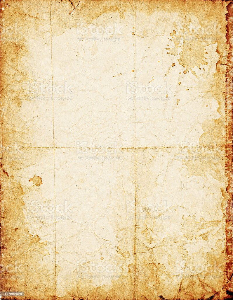 Old shabby paper royalty-free stock photo