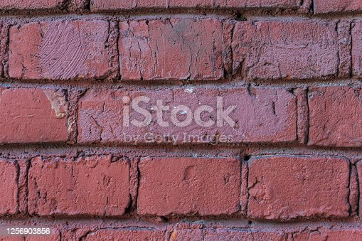 istock old shabby red brick wall 1256903856