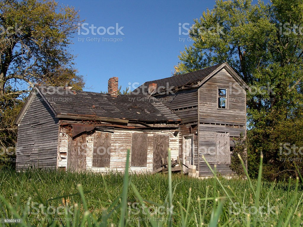Old Shack in the Grass royalty-free stock photo
