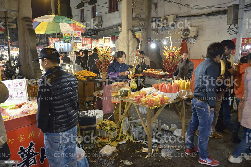 Old Shaghai market royalty-free stock photo