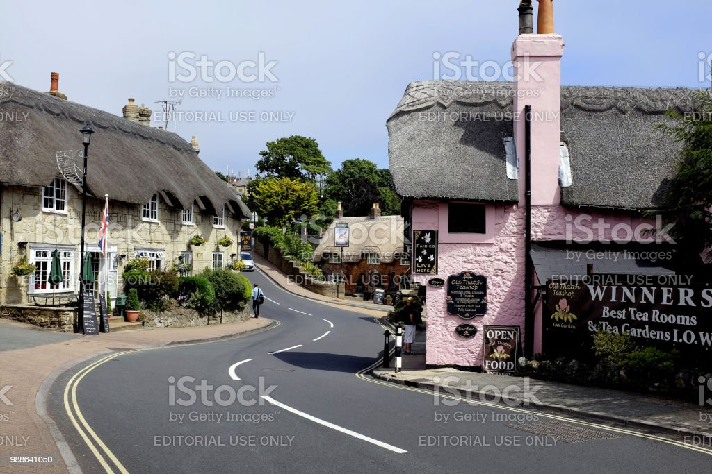 Old Shanklin, Isle of Wight, UK. stock photo