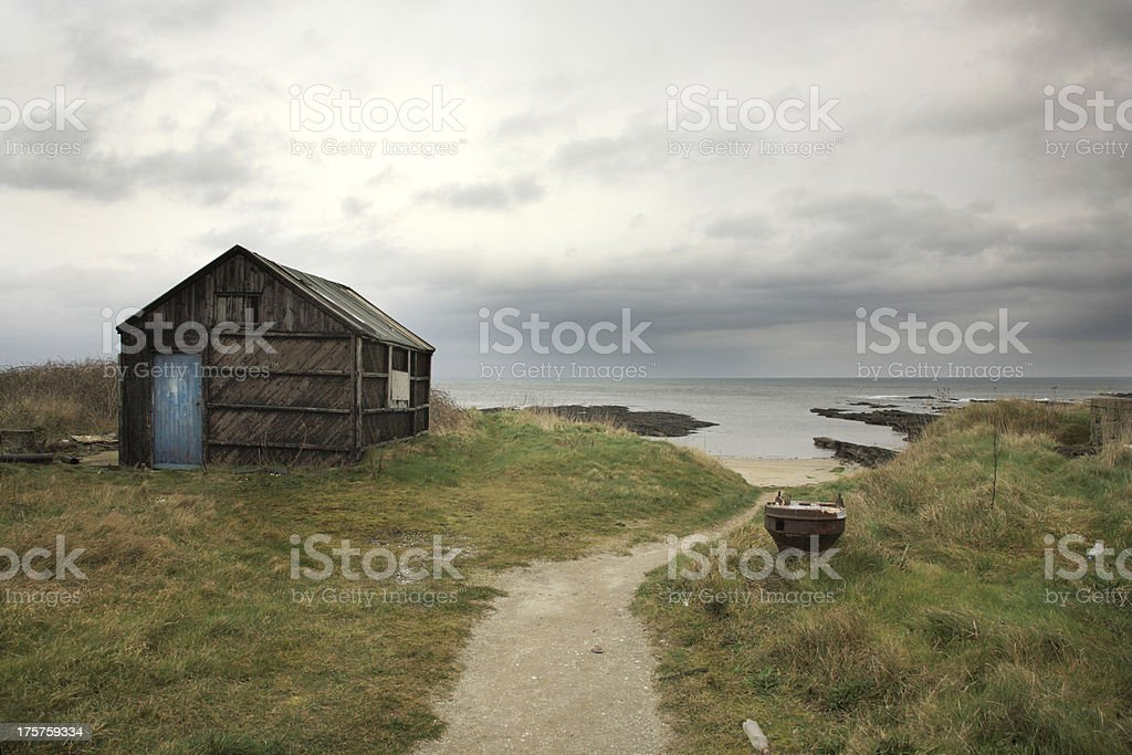 Old shed, Northumberland royalty-free stock photo