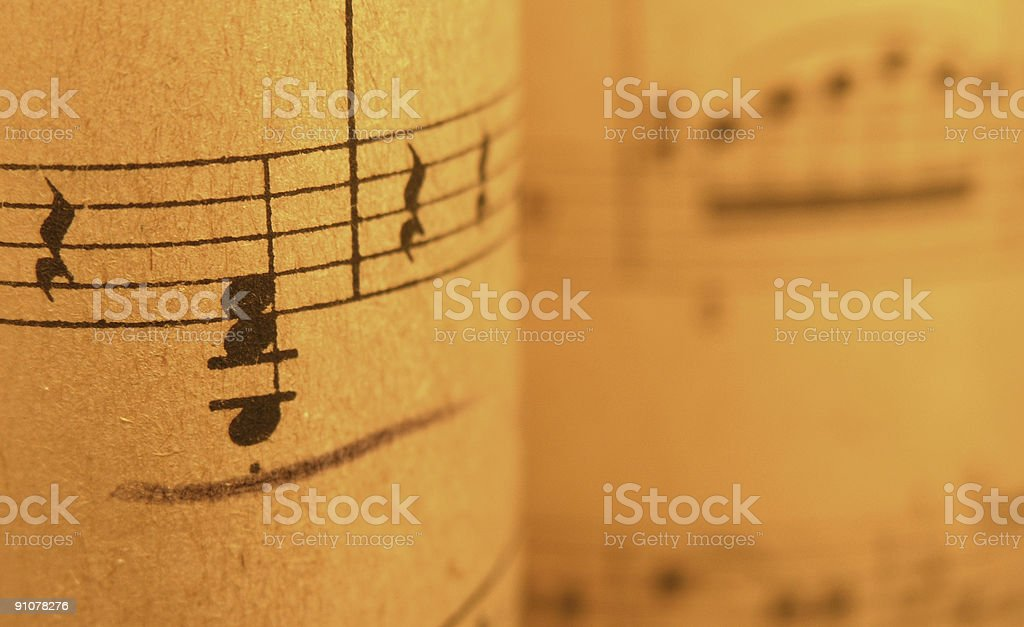 Old Sheet Music 2 royalty-free stock photo