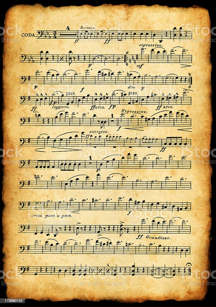 Old Sheet Music Stock Photo & More Pictures of Ancient ...