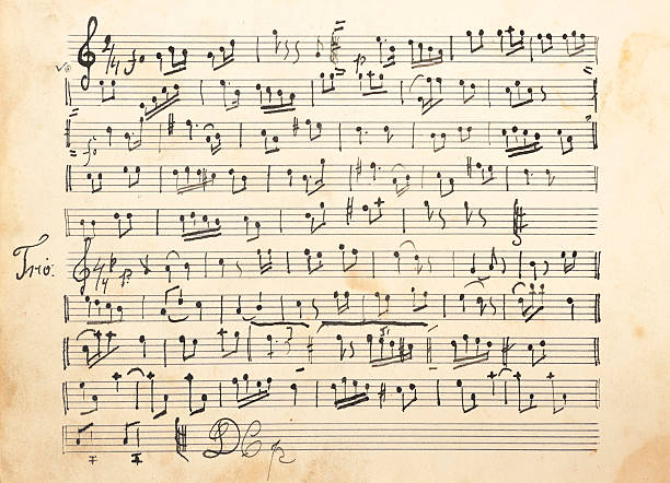 Old sheet music Old sheet music sheet music stock pictures, royalty-free photos & images