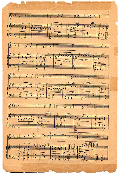 Old Sheet Music  sheet music stock pictures, royalty-free photos & images