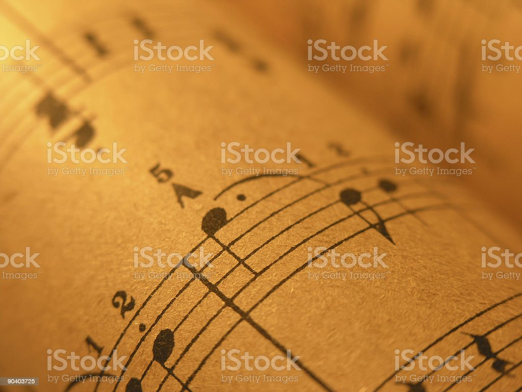 Old Sheet Music1 stock photo