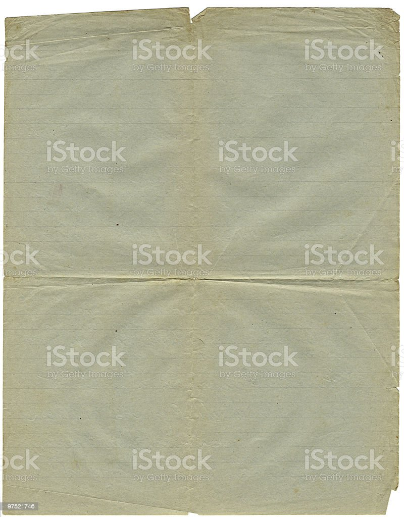 old sheet of paper royalty-free stock photo
