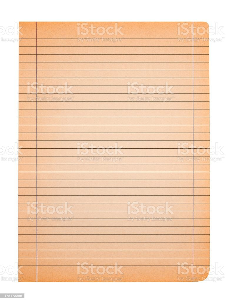 Old sheet royalty-free stock photo