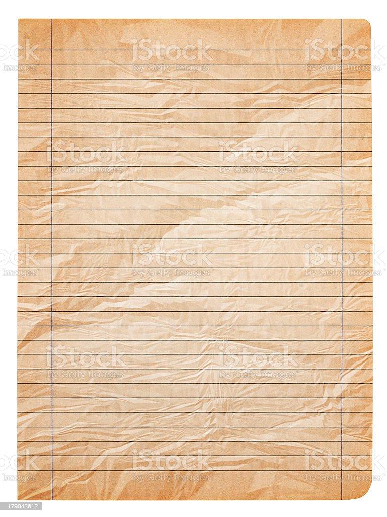 Old sheet royalty-free stock photo