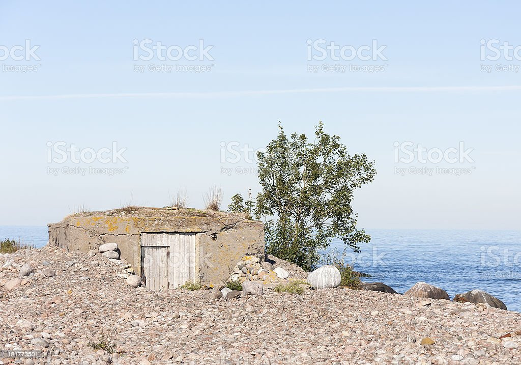 Old shelter in ground royalty-free stock photo