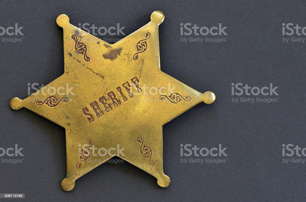 Old Sheriff badge stock photo