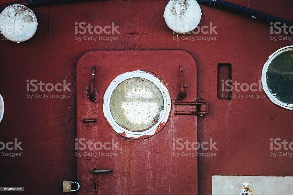 Old ship exterior stock photo