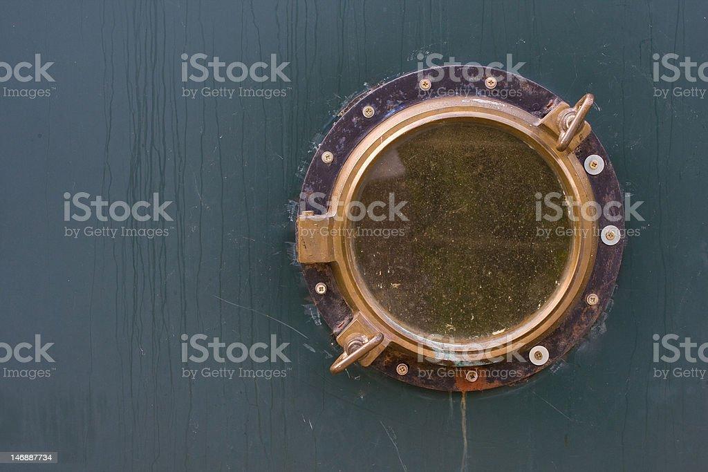 Old ship porthole royalty-free stock photo