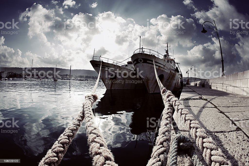 Old Ships in Harbour royalty-free stock photo
