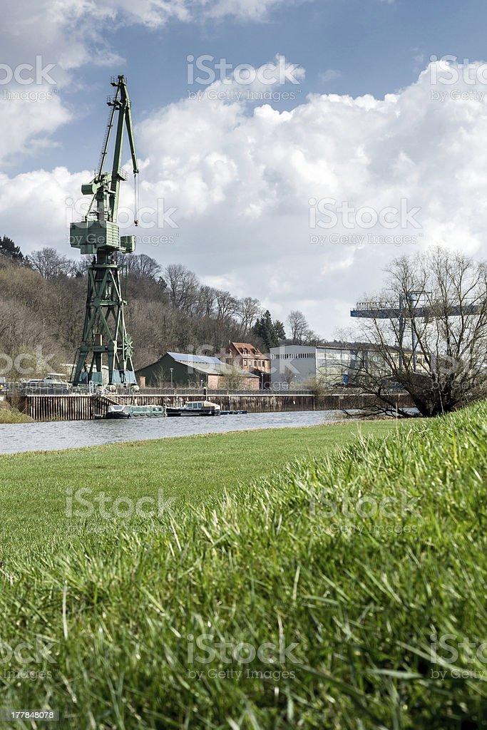 old Shipyard in Germany stock photo