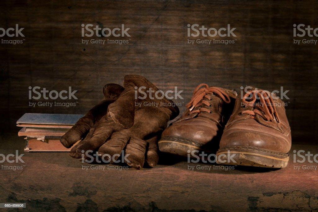 old shoes old shoes old shoes old shoes old shoes foto de stock royalty-free