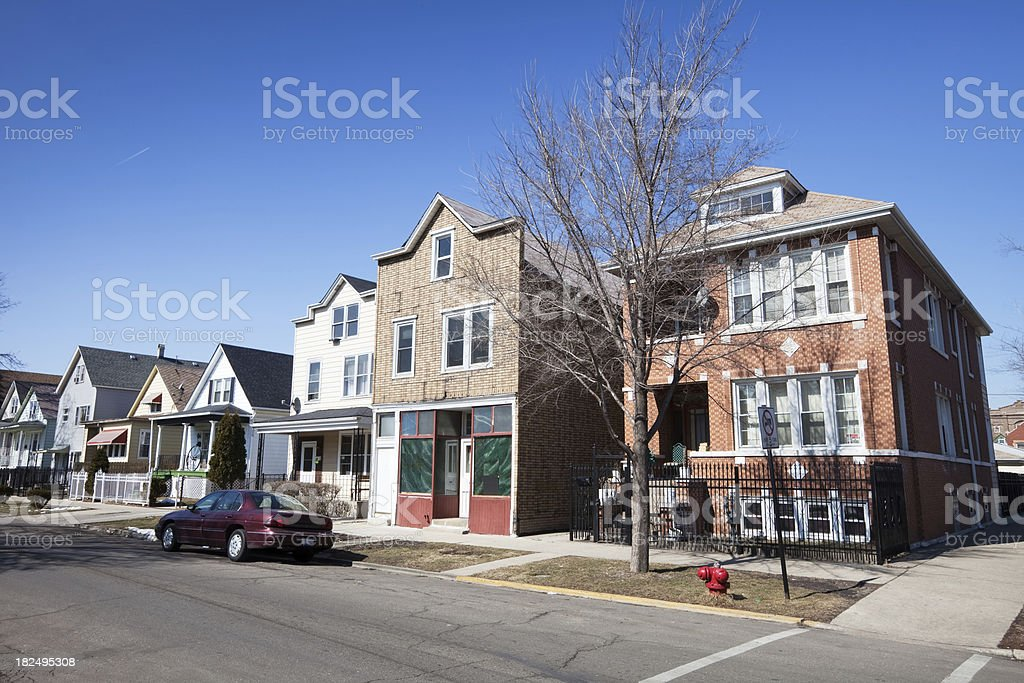 Old Shop in Chicago Neighborhood royalty-free stock photo