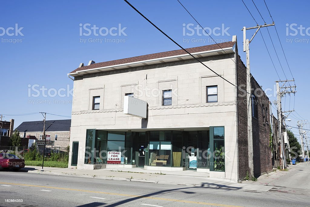 Old Shop in Clearing, Chicago royalty-free stock photo