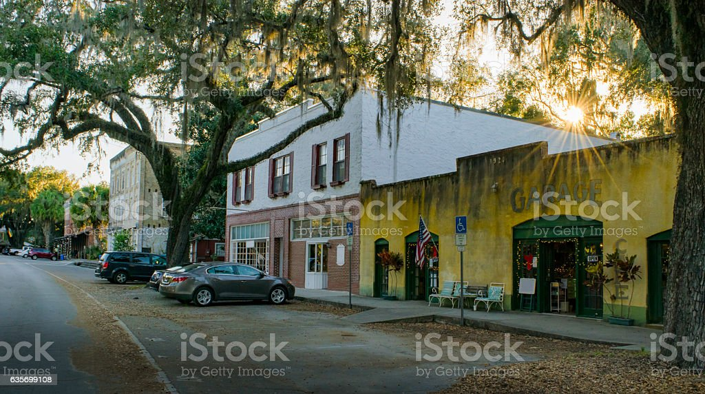 Old Shops in Micanopy, Florida royalty-free stock photo