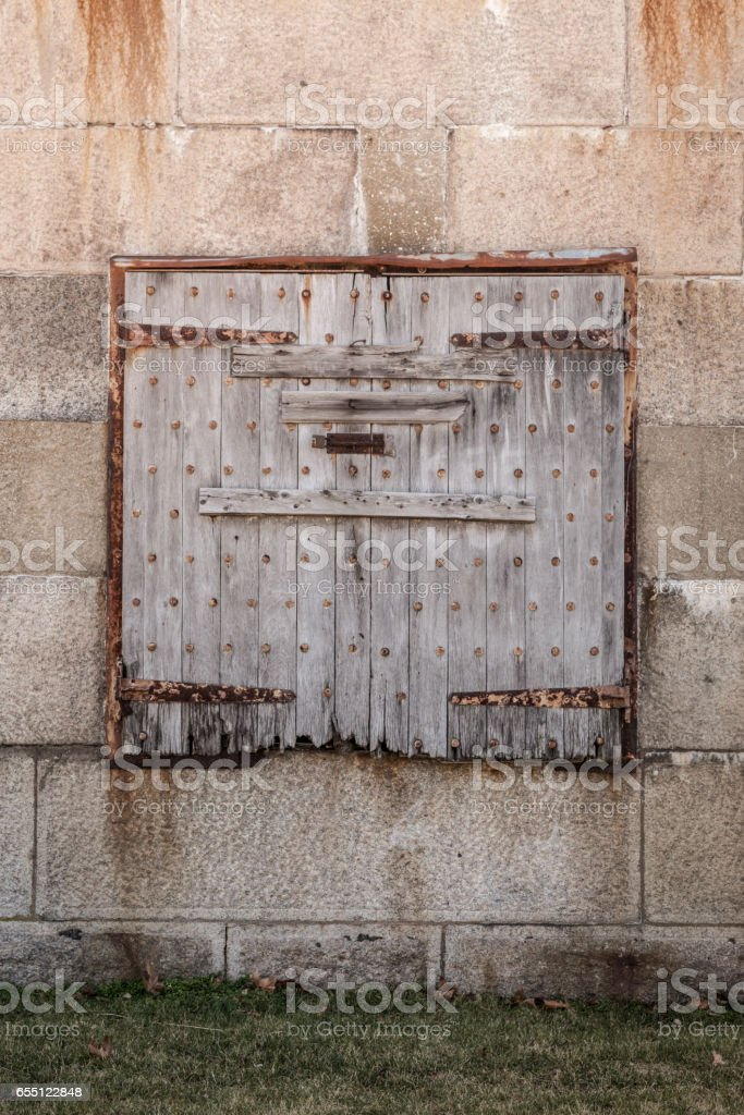 Old Shutters in Decay stock photo