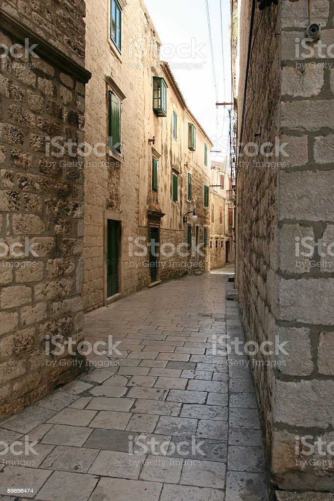 Old Sibenik street-Croatia royalty-free stock photo