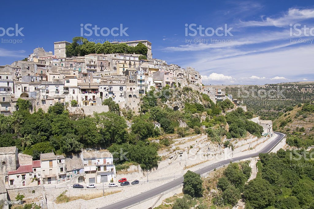 old sicilian architecture royalty-free stock photo