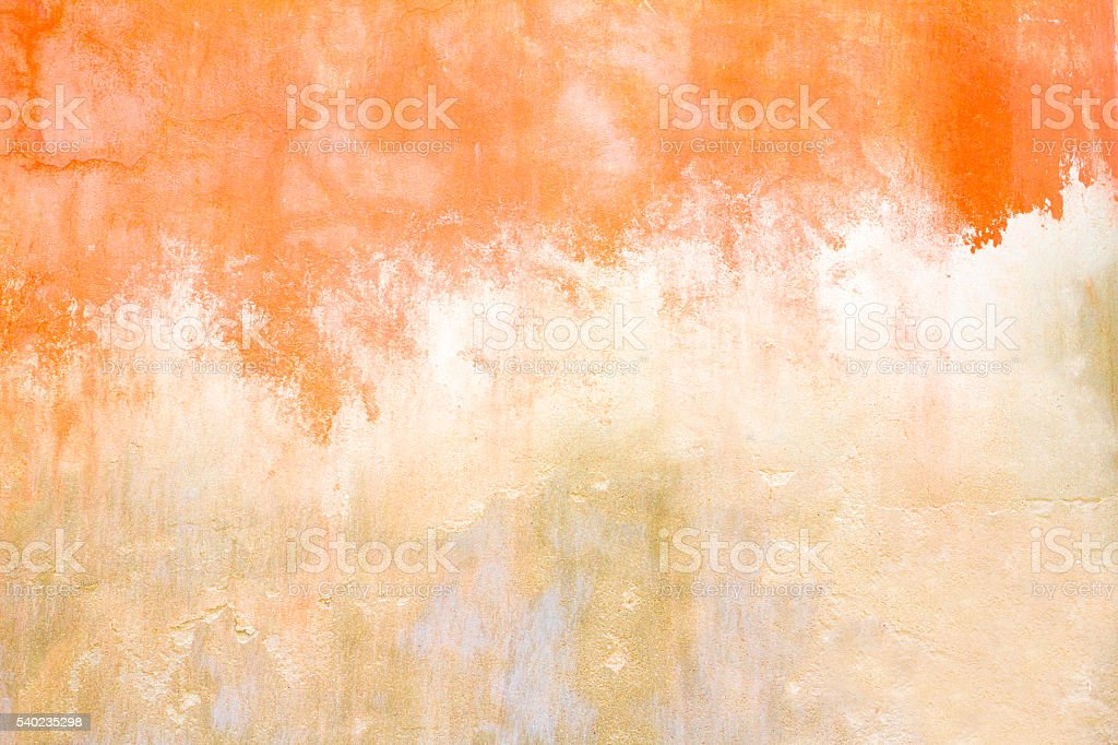 Old Sicilian Wall Background Texture: Mottled Orange-Yellow stock photo