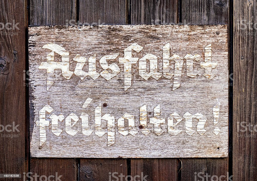 old sign stock photo