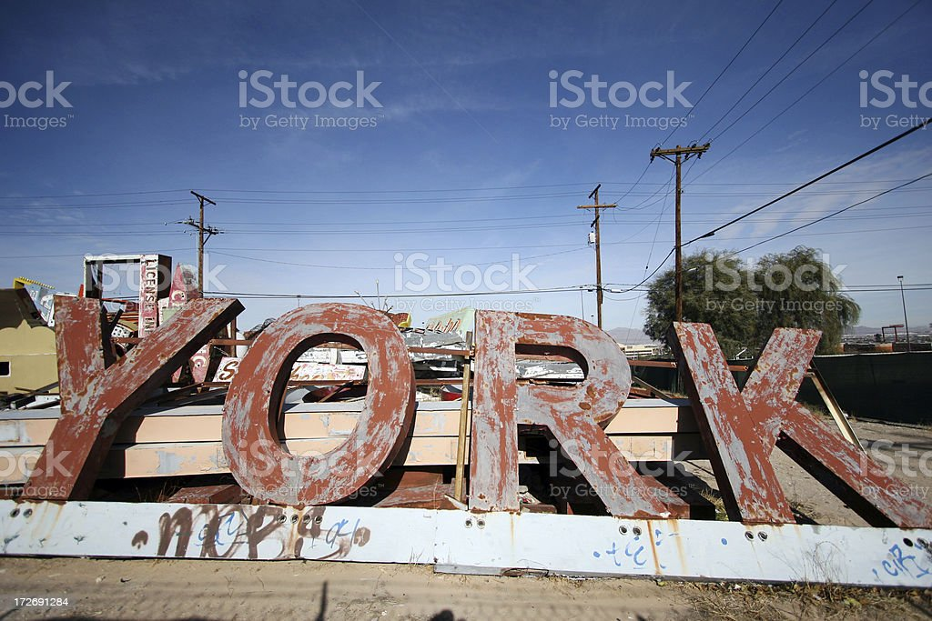 Old Signage 5 royalty-free stock photo