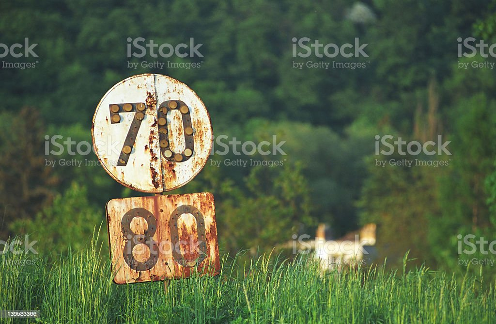 Old signs stock photo