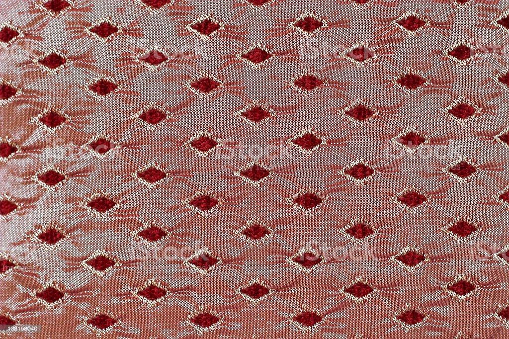 Old silk cushion fabric royalty-free stock photo