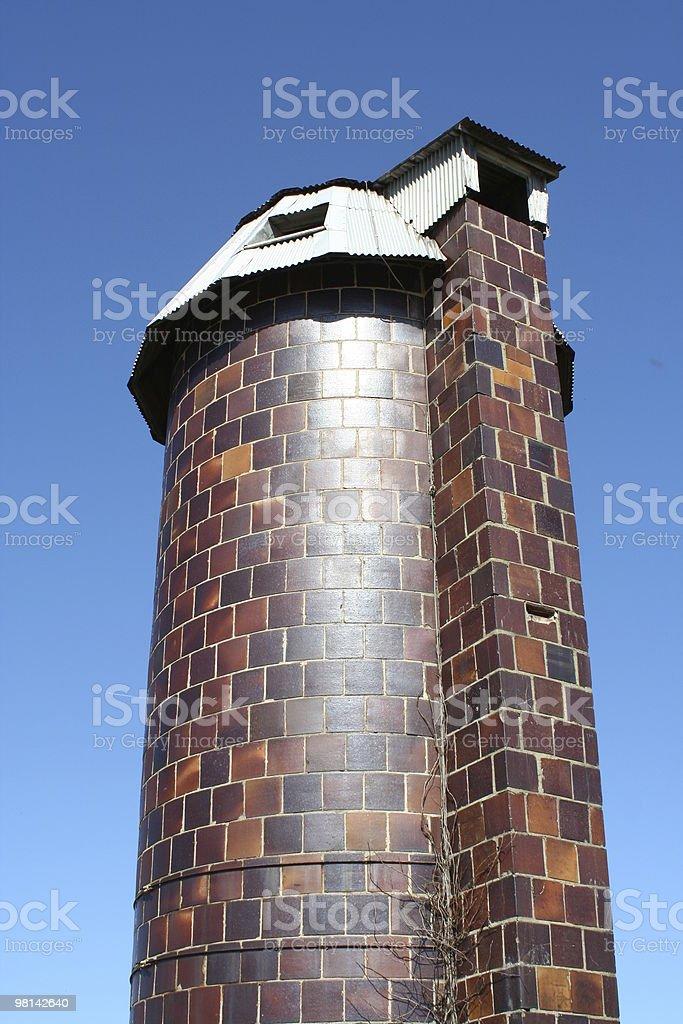 Old silo royalty-free stock photo