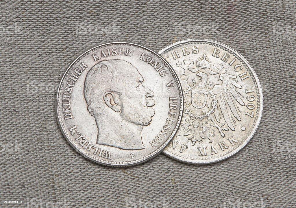Alt Silber Münzen Der Deutsche Reich Stockfoto Istock