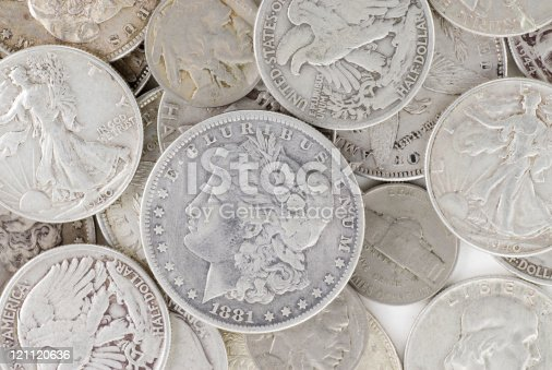 Variety of old U.S. silver coins