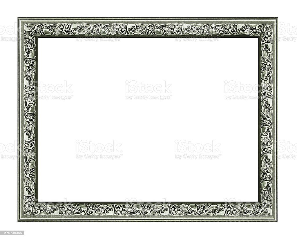 old silver frame for your picture, photo, image. beautiful vinta stock photo